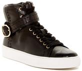Rachel Zoe Bjorn Soft Vachetta Snake-Embossed Hi-Top Sneaker