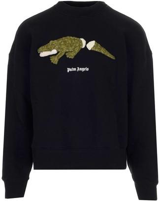 Palm Angels Logo Graphic Print Sweatshirt