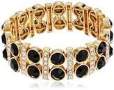 "Anne Klein Bash"" Gold-Tone Stone Stretch Bracelet"