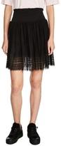 Maje Women's Lace Hem Pleated Skirt