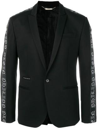 Philipp Plein Bands logo trim blazer