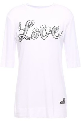 Love Moschino Printed Stretch Modal-jersey T-shirt