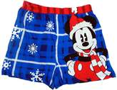 Briefly Stated Mickey Mouse Dressed for Christmas Plaid Boxer for men