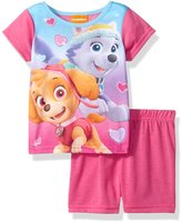 Nickelodeon Toddler Girls Paw Patrol 2 Piece Pajama Short Set