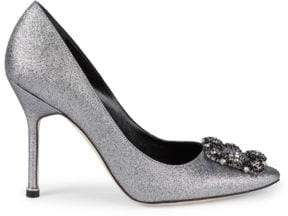 7e776e6d5e Manolo Blahnik Decollette Glitter Pumps