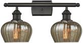 Innovations Lighting Fenton 2-Light Bath Fixture, Mercury Glass, Oil Rubbed Bronze