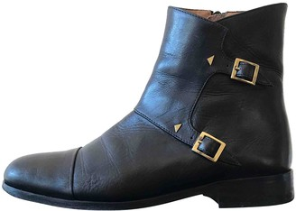 Thomas Laboratories Anne Black Leather Ankle boots