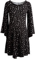 Glam Black & White Star Keyhole Maternity Tunic