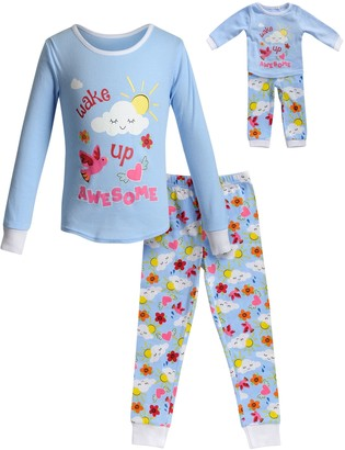 Dollie & Me Girls 4-14 Top & Bottoms Pajama Set & Matching Doll Pajama Set