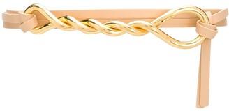 Bottega Veneta Twisted Leather Belt