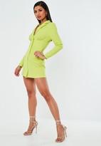 Missguided Lime Corset Blazer Dress
