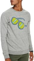 Scotch & Soda Sunglasses Crew Neck Sweatshirt, Grey Melange