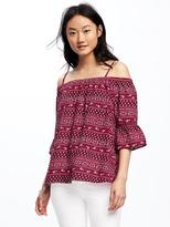 Old Navy Patterned Off-the-Shoulder Swing Top for Women