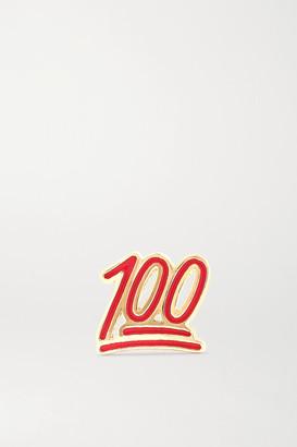 Alison Lou 100 14-karat Gold And Enamel Earring - one size