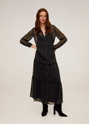 MANGO Printed long dress