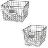 Spectrum Metal Wire Storage Basket in Satin Nickel