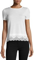 Theory Lilany Refine Georgette Top, Ivory