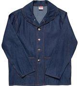 Pointer Brand Indigo Denim Shawl Collar Jacket - Men's
