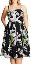 City Chic Plus Size Women's Emerald Spring Convertible Sundress