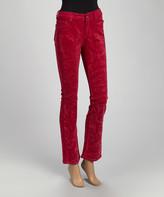 Be Girl be-girl Women's Casual Pants Rose - Rose Corduroy Straight-Leg Pants - Women