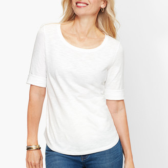 Talbots Roll Cuff Tee - Shimmer