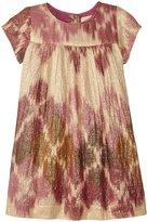 Pink Chicken Elodie Dress (Baby) - Pink Oversized Ikat - 6-12 Months