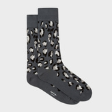 Paul Smith Men's Grey 'Leopard Camo' Socks