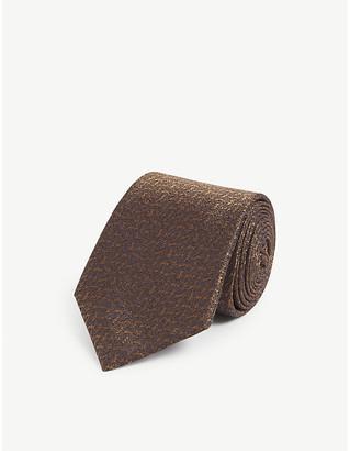 Canali Tonal textured silk-jacquard tie