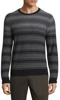 Saks Fifth Avenue Striped Crewneck Cashmere Sweater