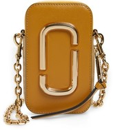 Marc Jacobs Hot Shot Saffiano Leather Shoulder Bag - Burgundy