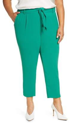 ELOQUII Tie Waist Slim Fit Trousers