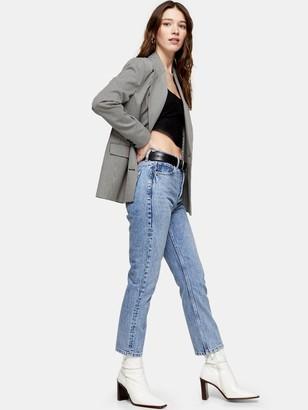 Topshop Slim Wide Jeans - Bleached Blue