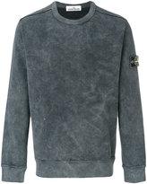 Stone Island logo patch sweatshirt - men - Cotton - M