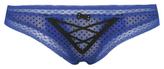 George Flocked Dotty Lace-Up Brazilian Briefs