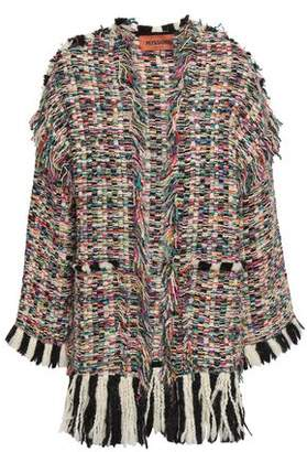 Missoni Fringe-trimmed Wool-blend Tweed Cardigan