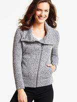 Talbots Brushed Asymmetrical-Zip Jacket-Space-Dyed