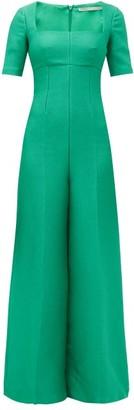Emilia Wickstead Audie Crepe Jumpsuit - Green