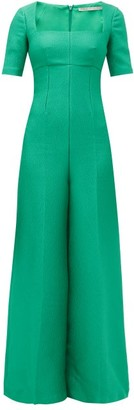 Emilia Wickstead Audie Crepe Jumpsuit - Womens - Green