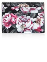 Alexander McQueen Floral-Print Leather Card Case