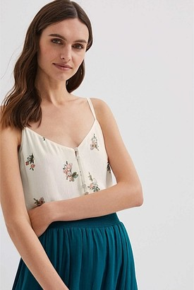 Witchery Button Detail Top