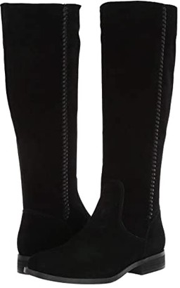 Frye Jolie Whip Tall (Black Suede) Women's Boots