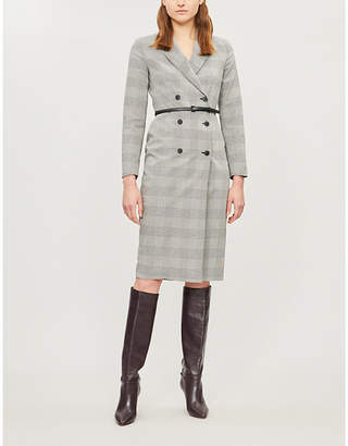 Max Mara Pianosa checked cotton midi dress