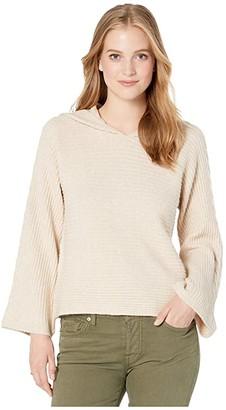 BB Dakota Knock On Hood Sweater (Sand) Women's Clothing