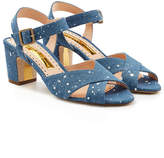 Rupert Sanderson Sateen Denim Sandals