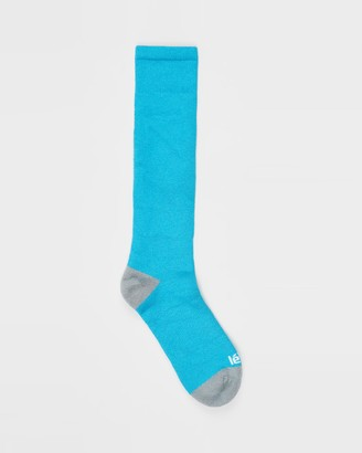 Le Bent - Women's Blue Crew Socks - Alpha Socks - Size One Size, 2-8 at The Iconic