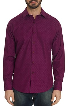 Robert Graham Keaton Tile-Pattern Classic Fit Shirt