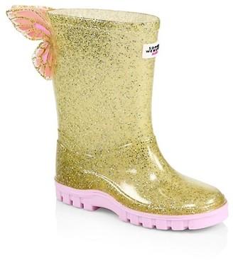 Sophia Webster Baby's & Little Girl's Butterfly Welly Glitter Rain Boots