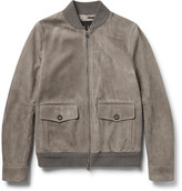 Dunhill - Suede Bomber Jacket