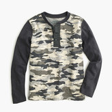 J.Crew Boys' henley in camo