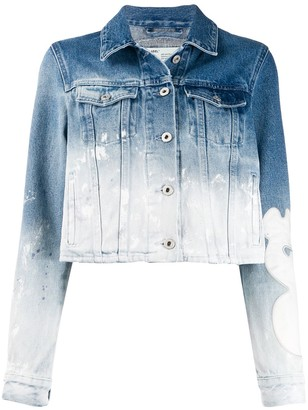 Off-White Bleached-Effect Denim Jacket